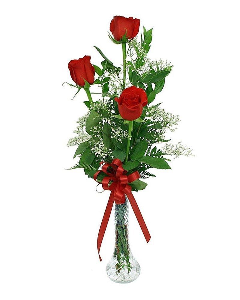 3 5 розы в букете, искусственные лепестки