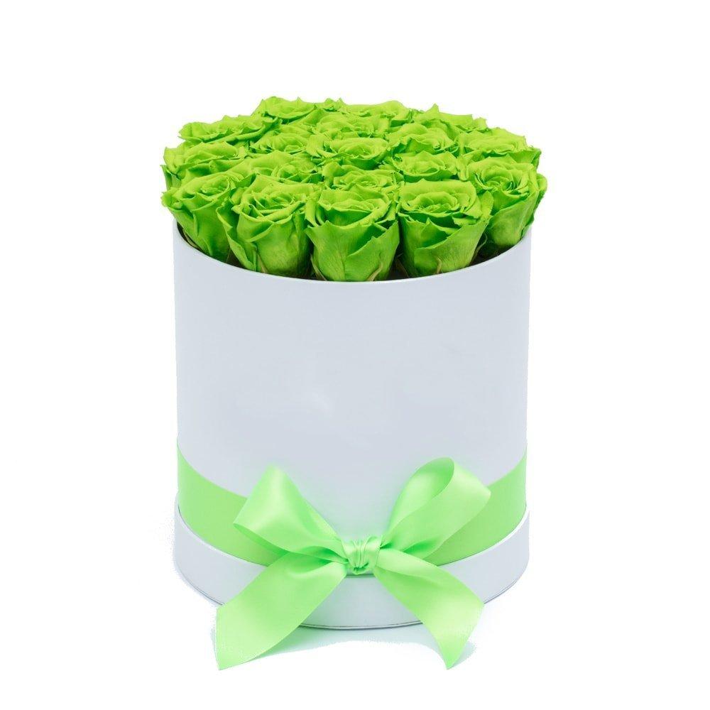 10 eternal green rosses