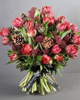 tulip skimmia bouquet