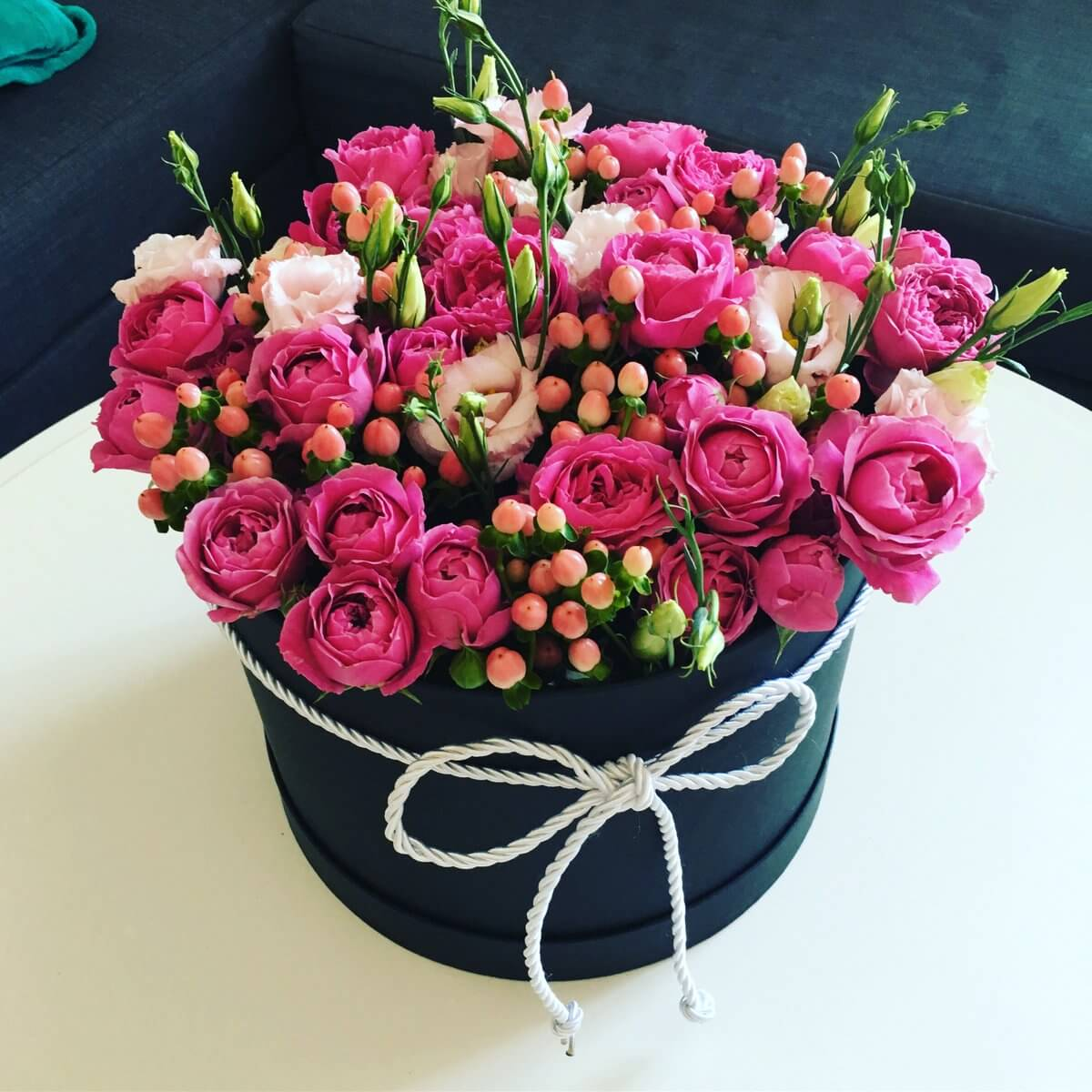 Spray Rose with Eustoma and Hypericum
